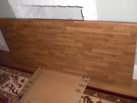 Kitchen worktop offcuts. Two pieces of Oak laminate worktop from Magnate.