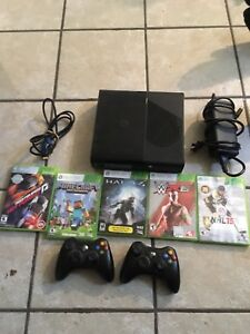 Xbox 360 2 controllers 5 games