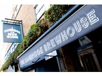 Bar and waiting staff required for busy central Brew House