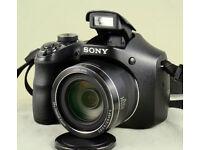 SONY DSC-H300 Digital Compact Bridge Camera - Black (20.1 MP) - Boxed / New + free memory card