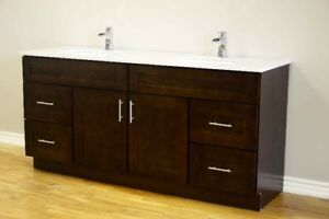 "Bathroom vanity 24""-72"" Solid Wood Vanity Only From $399"