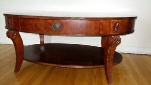 Gorgeous high end coffee table and end table, solid wood!!