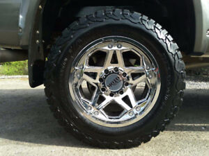 Near New 285/65R20 BF Goodrich on Moto Metal rims