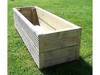 Made to measure planter , wooden