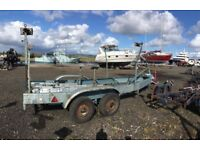 20ft / 6.14m Substantial double axle braked boat trailer for sale