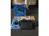 PlayStation 3 500gb excellent condition 2 wireless controllers and 9 games