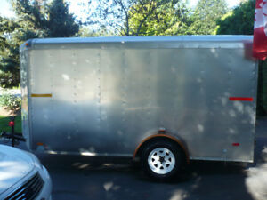 6 x 12 CARGO TRAILER ENCLOSED EXCELLENT CONDITION