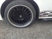 "Vw t5 20"" alloys and tyres"