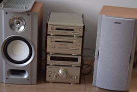 TECHNICS CD RADIO AUX IN CASSETTE 90W PLAY IPOD PHONE MUSIC/JAPAN