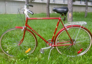 Classic Rocket Red 1970's 5 Speed Raleigh Sprite Bicycle