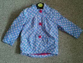 Mothercare Girls jacket rain coat 9-12 months