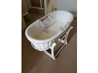 Moses Basket + Mothercare baby suit 0-3 Months