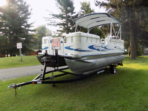 Pontoon boat with matching trailer