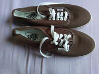 Brown vans womens size 6