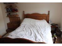 Suite of pine bedroom furniture