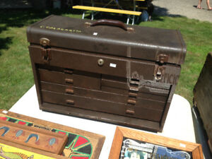 VINTAGE METAL MACHINIST TOOL PARTS CABINET CHEST DRAWERS