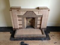 Very rare 1960,s fully tiled fireplaces
