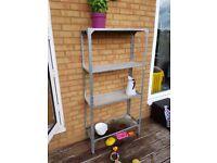 4 tier heavy duty metal shelf