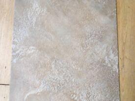 KARNDEAN Da Vinci CAPUCCHINO Floor Tiles. 2 sealed boxes of 20 tiles plus 11 loose tiles