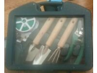 New and boxed Gardening set in case