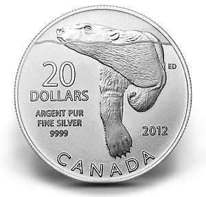Monnaie MRC 20$ pour 20$   Ours polaire