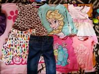 Various size girls clothes
