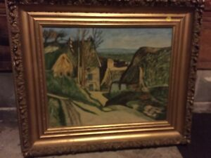 Antique framed painting - original by Glover