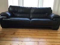 3 SEATER ITALIAN LEATHR DFS SOFAS, GOOD CONDITION