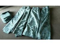 Homemade curtains & seat cushions