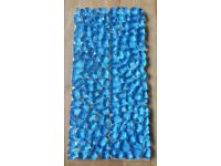 "Vintage Blue Glass Border Tiles:""Villi Glas"" Unique Design: Kitchen/ Bathroom/ Shower/ Mosaic/Mural"