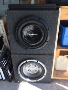 Pioneer Subwoofers with amp