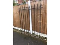 very well built section of security railing / steel fencing / gate £40