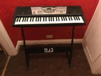 NJS 61-key Full Size Digital Electronic Keyboard with stand