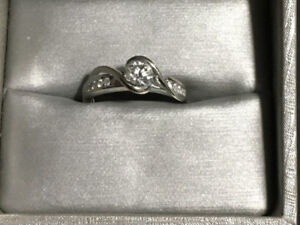 14Kt White Gold Engagement/Wedding Band