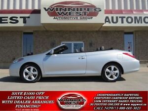 2007 Toyota Solara SLE V6 CONVERTIBLE, LOADED, LEATHER,LOW KMS!