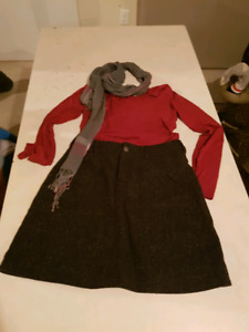 Skirt shirt with scarf