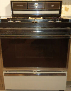"30"" Caloric Heritage Series Gas Range/Stove. Almond, works well."