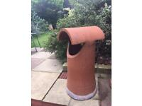 Victorian vintage terra cotta chimney pot