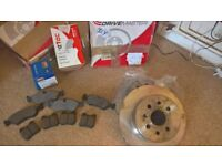 brake discs and pads, bought for Vectra