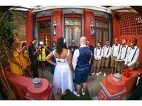 Wedding Dress - medium size, ankle length