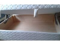 double otterman bed with headboard pine interior otterman.great condition.