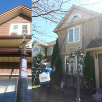Eavestrough cleaning, window, exterior cleaning