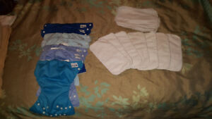 Fuzzi Bunz cloth diapers, size small