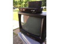 Sanyo portable tv and technikaset top box