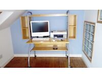 Ikea computer desk/work station with shelves above and below plus 2 hook on storage compartments