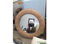 NEXT large Woven mirror
