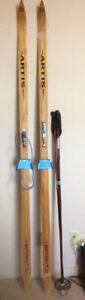 Artis Sprint brand cross country skis With poles