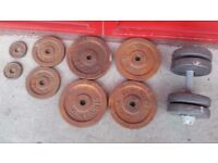 Metal discs plates from Hercules they need painting in total 42 kg