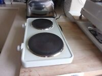 Tabletop two ring cooker
