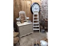 Up cycled dressing table drawers and ladder
